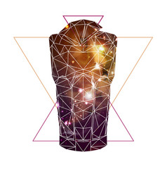 abstract polygonal tirangle cocktail with open vector image