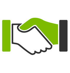 Acquisition handshake flat icon vector