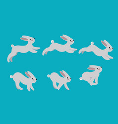animation cycle running a harerabbit motion vector image