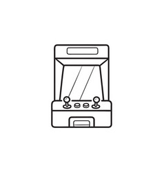 arcade game machine hand drawn outline doodle icon vector image