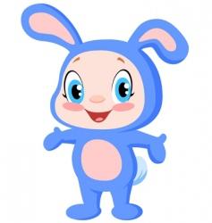 baby bunny vector image