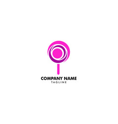 candy logo template candy shop icon sweet logo vector image