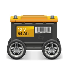 Car Battery on Wheels vector image