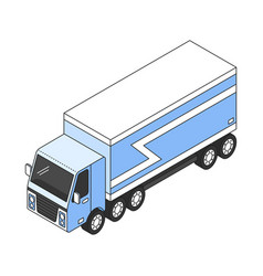 cargo trailer icon vector image
