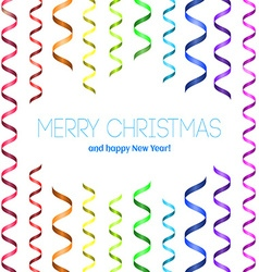 Christmas card with serpentine vector