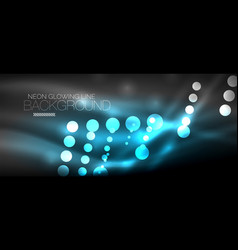 circle abstract lights neon glowing background vector image