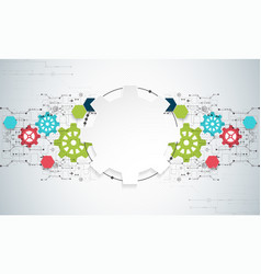 Cogwheel hi-tech digital technology and vector