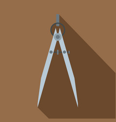 Compass tool icon flat style vector
