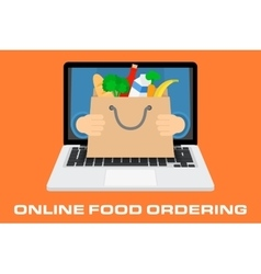 Concept for online ordering of food vector image