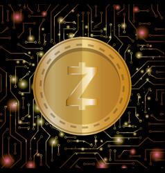Electronic commerce with zcash vector