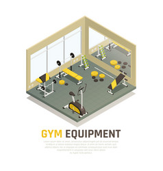 exercise equipment isometric composition vector image