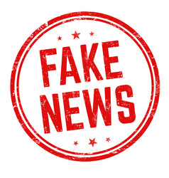 Fake news sign or stamp vector