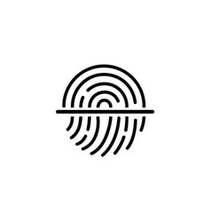fingerprint iconsymbol for graphic and web design vector image