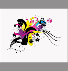 flower and floral ornament vector image