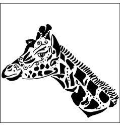 Giraffe tattoo for coloring vector image