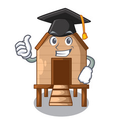 graduation chiken coop isolated on a mascot vector image
