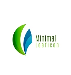 Green eco leaf icon created with circle shapes vector