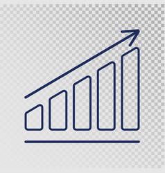 Growth template business progress growing bar vector