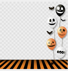 Halloween background with striped room vector