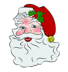 happy vintage santa vector image