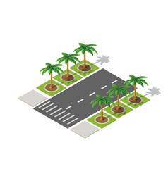 highway city street road vector image