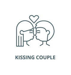 kissing couple line icon linear concept vector image
