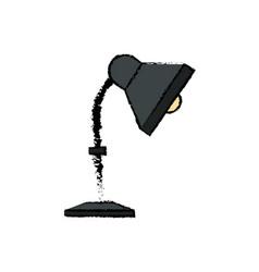 lamp desk bulb light electric decoration vector image