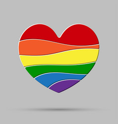 lgbt heart love element flag pride gay vector image