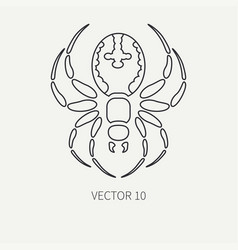 Line flat plain wildlife fauna icon black vector