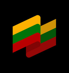lithuania flag ribbon isolated lithuanian ribbon vector image