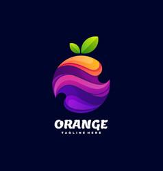 Logo orange gradient colorful style vector