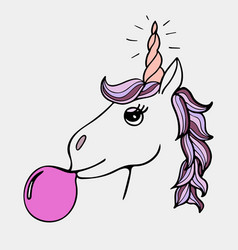 lovely hand-drawn unicorn vector image