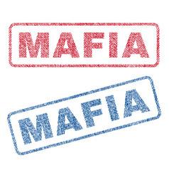 Mafia textile stamps vector