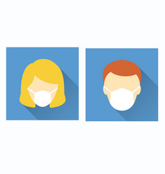 medical face mask icon for graphic and web design vector image