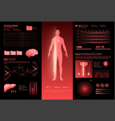 medical hud interface infographics vector image