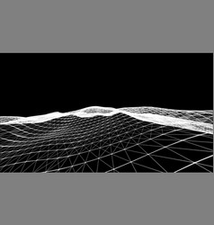 monochrome digital polygonal landscape design vector image