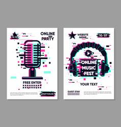 music festival banner posters set vector image