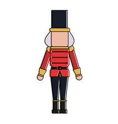 Nutcracker toy christmas related icon image vector