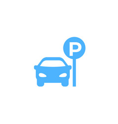 Parking lot icon vector