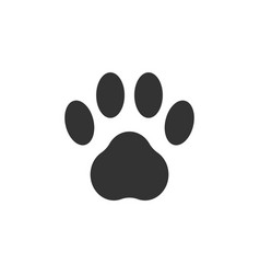 Paw clip art design isolated vector