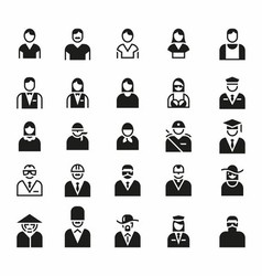 People Icon Symbol Logo Set vector image
