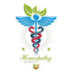 Pharmacy caduceus icon medical logo for use in vector