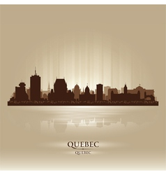 Quebec Canada skyline city silhouette vector image