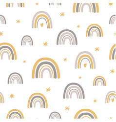 rainbows bascandinavian pattern baboho vector image