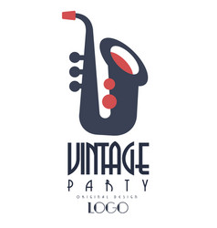 retro vintage party oroginal logo design emblem vector image