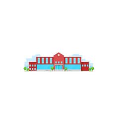 School building college or university campus icon vector