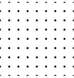 seamless monochrome polka dot pattern dotted vector image