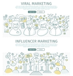 Set marketing flat design web banners vector
