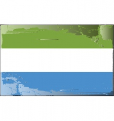 Sierra leone national flag vector