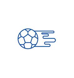 soccer ball line icon concept soccer ball flat vector image